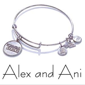 "Alex Ani ""Young & Strong"" Bangle Charm Bracelet"